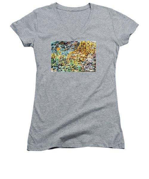 Flutes Breath Women's V-Neck T-Shirt (Junior Cut) by Alfred Motzer