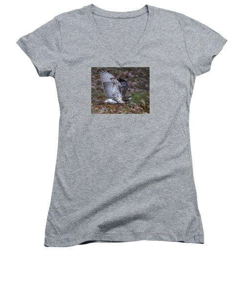Fly By Women's V-Neck T-Shirt (Junior Cut) by Stephen Flint