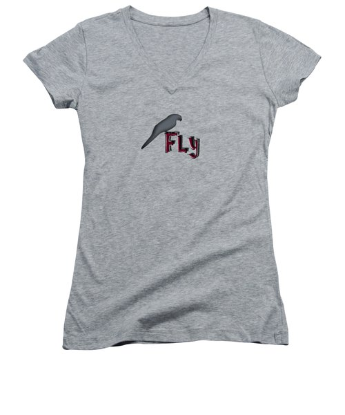 Fly Women's V-Neck T-Shirt
