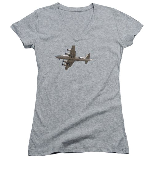Fly Navy T-shirt Women's V-Neck (Athletic Fit)
