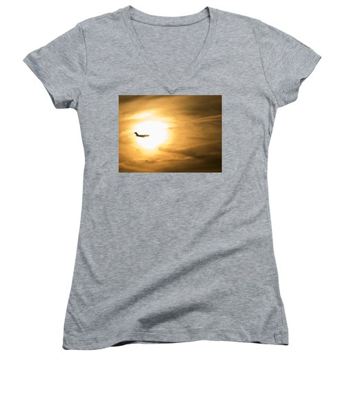 Fly To The Sun Women's V-Neck
