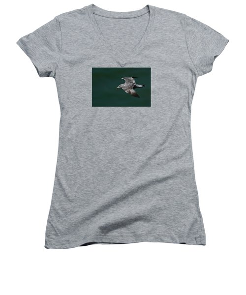 Women's V-Neck T-Shirt (Junior Cut) featuring the photograph Flyby by Richard Patmore