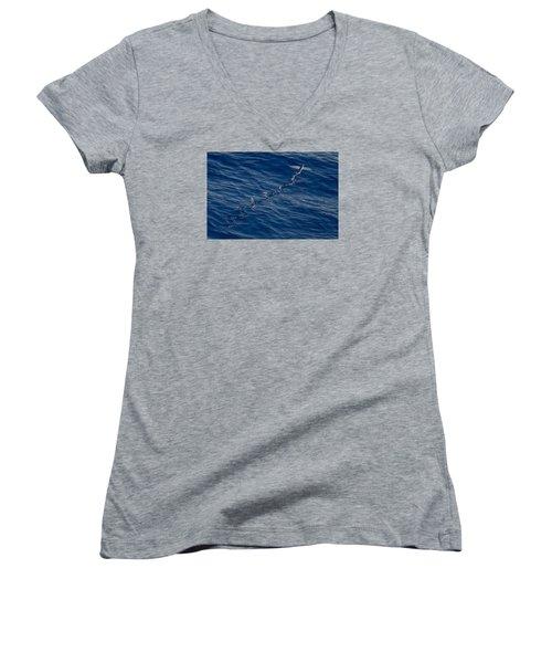 Flyer Women's V-Neck T-Shirt (Junior Cut) by  Newwwman