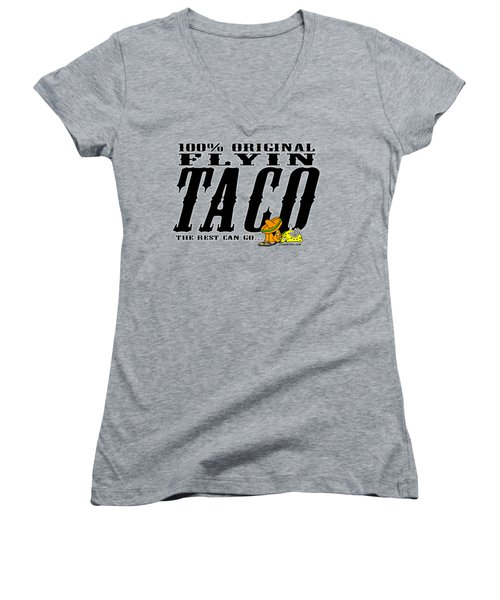 Flyin Taco 005 Women's V-Neck T-Shirt