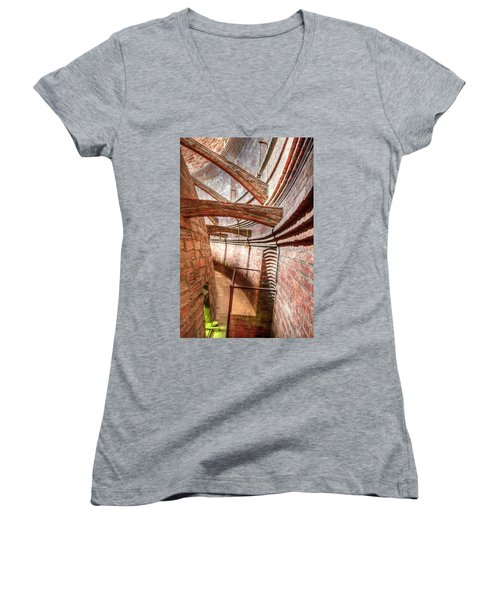 Flying Buttresses In The Dome 1  Women's V-Neck T-Shirt