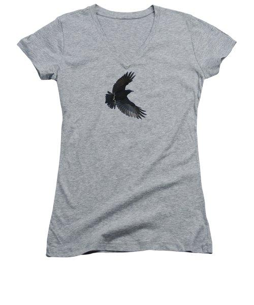Flying Crow Women's V-Neck T-Shirt (Junior Cut) by Bradford Martin