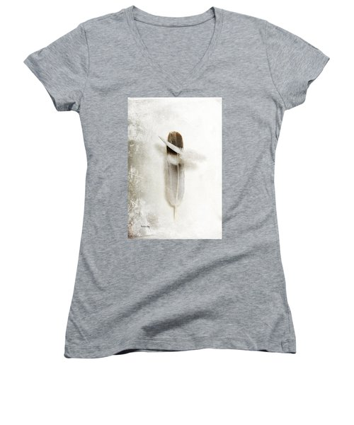 Flying Feathers Women's V-Neck