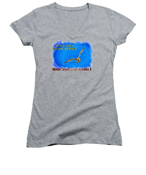 Flying Gull Women's V-Neck (Athletic Fit)