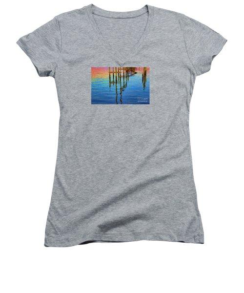 Focus Women's V-Neck T-Shirt (Junior Cut) by Roberta Byram