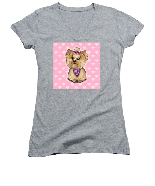 Fofa Hearts Women's V-Neck