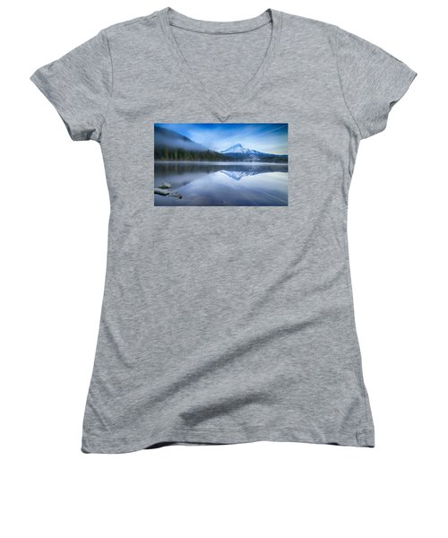 Fog And The Lake Women's V-Neck (Athletic Fit)
