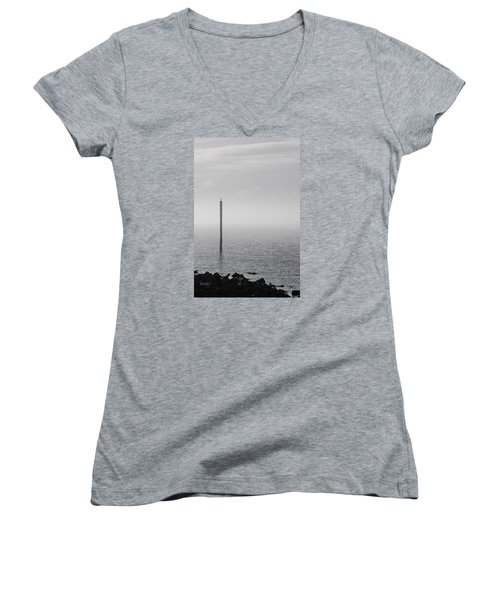 Fog On The Cape Fear River On Christmas Day 2015 Women's V-Neck (Athletic Fit)