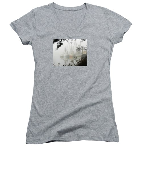 Fogged In Women's V-Neck (Athletic Fit)