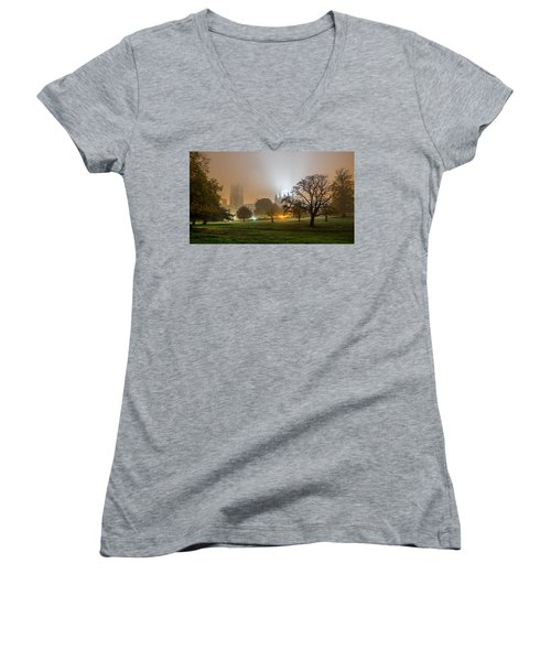 Foggy Cathedral Women's V-Neck