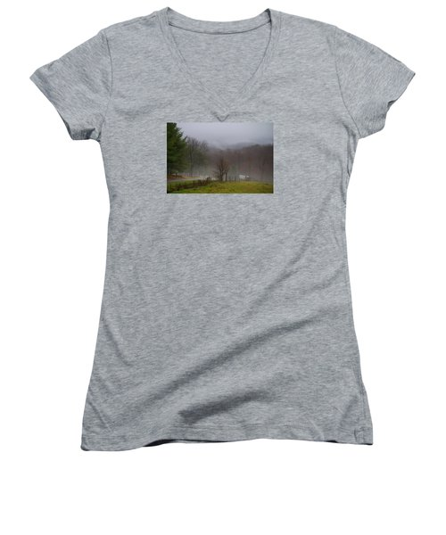 Foggy Day Women's V-Neck (Athletic Fit)