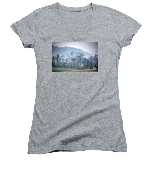 Foggy Hills Women's V-Neck