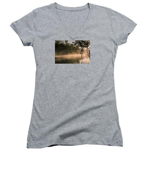 Foggy Water Women's V-Neck T-Shirt