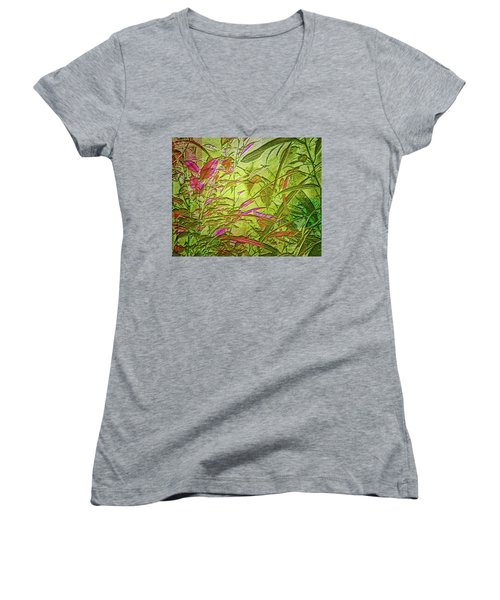 Foliage Women's V-Neck