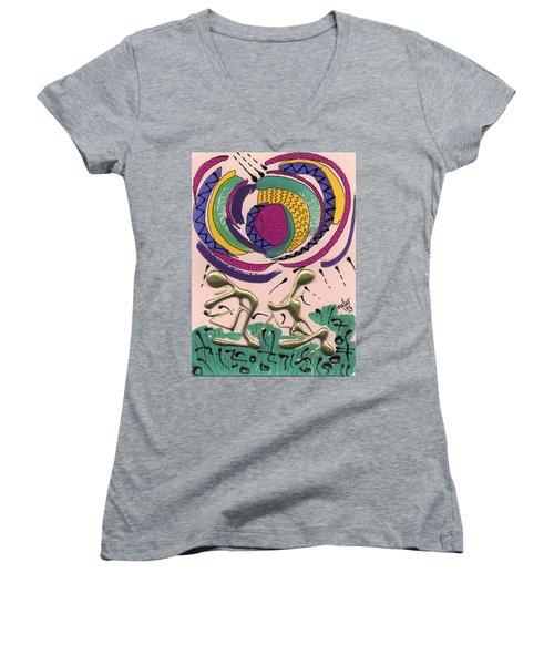 Follow Me Women's V-Neck T-Shirt (Junior Cut) by Angela L Walker