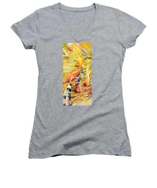 Follow The Leader Women's V-Neck T-Shirt (Junior Cut) by Judith Levins