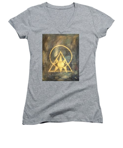 Follow The Light - Illuminati And Binary Women's V-Neck