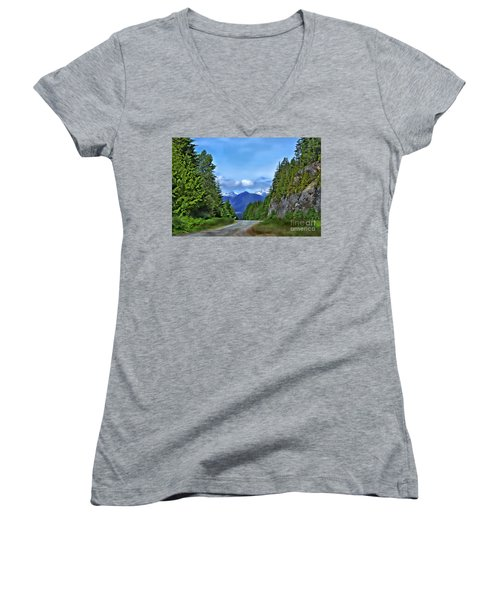 Follow The Road Women's V-Neck (Athletic Fit)