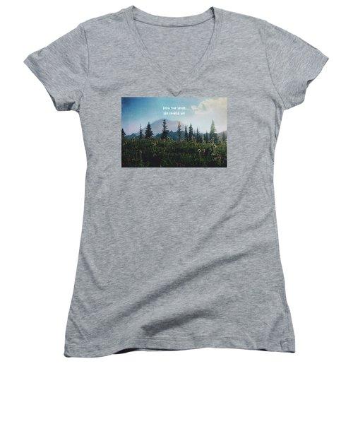 Follow Your Dreams Women's V-Neck T-Shirt