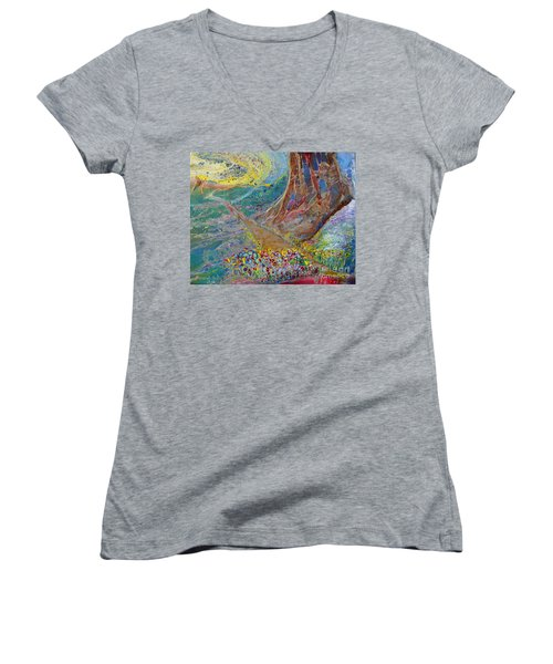 Follow Your Path Women's V-Neck