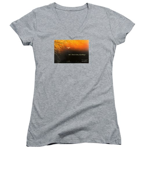 Women's V-Neck T-Shirt (Junior Cut) featuring the digital art Fond Thoughts by Trilby Cole