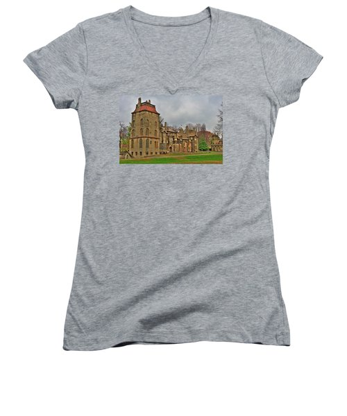 Fonthill Castle Women's V-Neck (Athletic Fit)