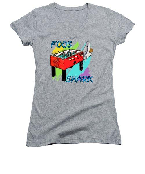 Foos Shark Women's V-Neck (Athletic Fit)