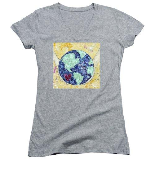 For He So Loved The World Women's V-Neck T-Shirt