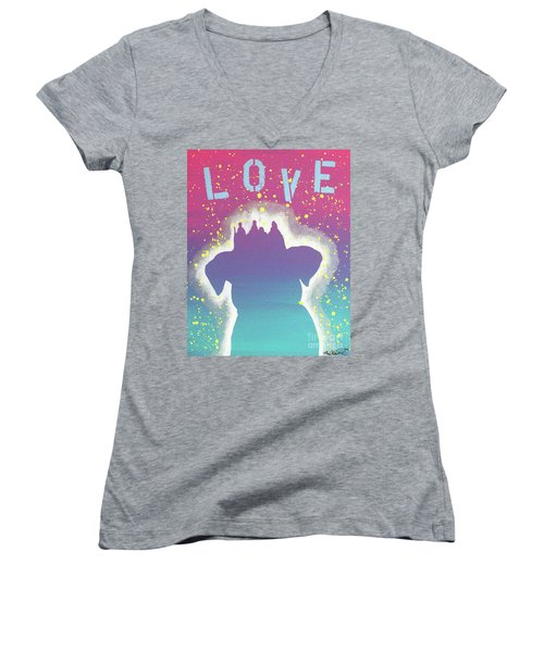For The Love Of Pups Women's V-Neck