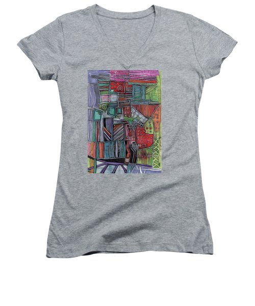 For Two Brothers Women's V-Neck T-Shirt (Junior Cut) by Sandra Church
