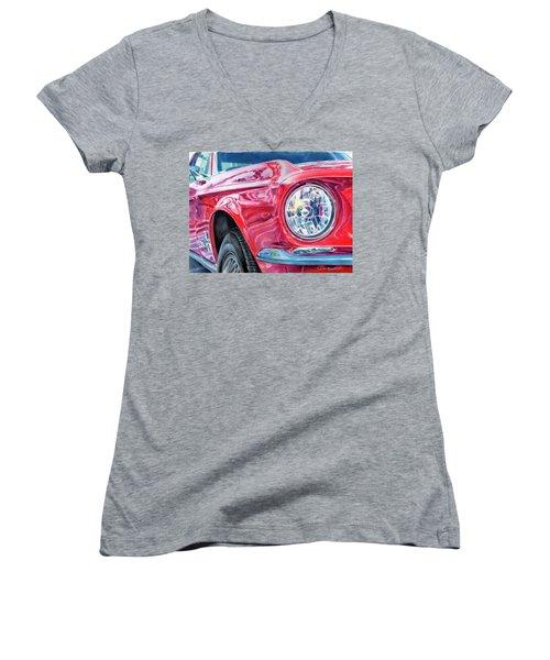 Ford Mustang Women's V-Neck