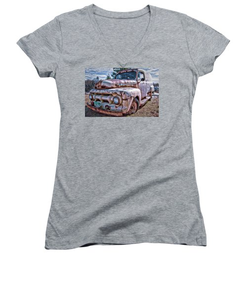 Ford Panel Truck Women's V-Neck (Athletic Fit)