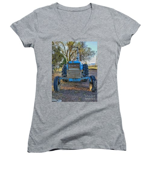 Ford Tractor Women's V-Neck