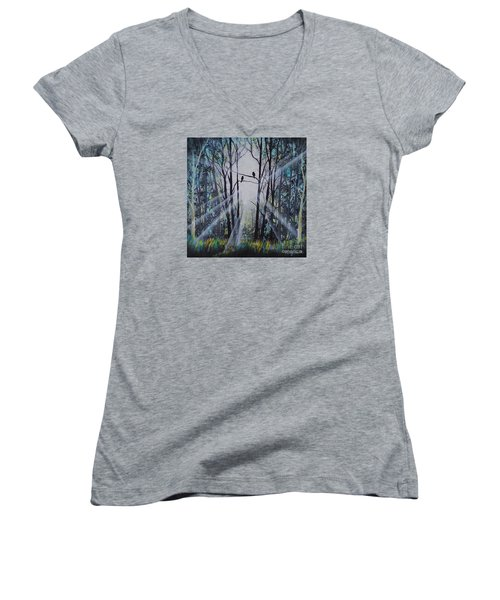 Forest Birds Women's V-Neck