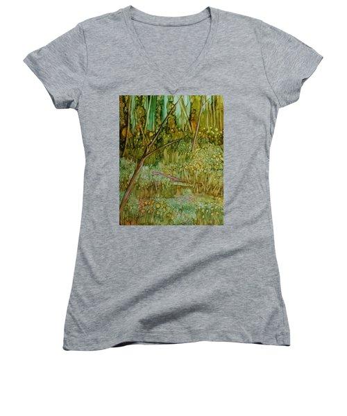 Forest Deep Women's V-Neck