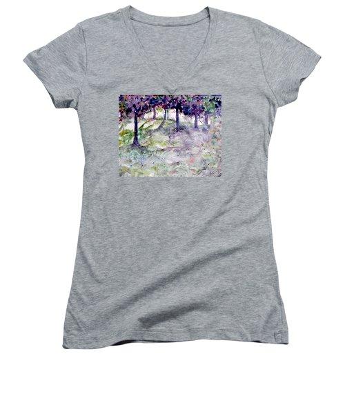 Forest Fantasy Women's V-Neck T-Shirt