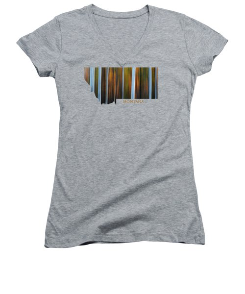 Forest Illusions-montana Women's V-Neck T-Shirt
