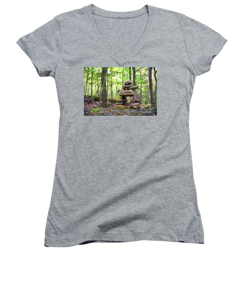 Forest Inukshuk Women's V-Neck