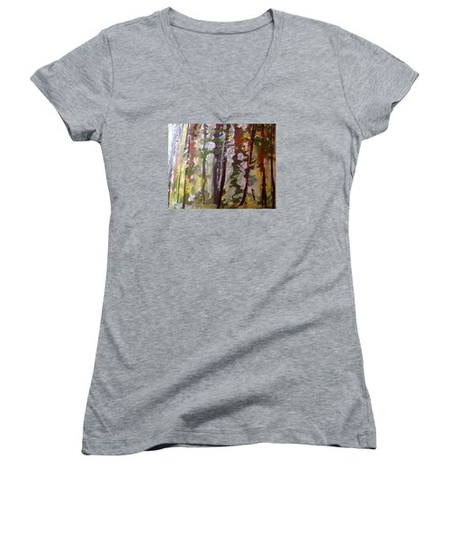 Forest Meeting Women's V-Neck T-Shirt