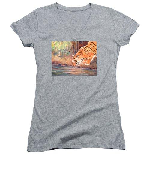 Forest Tiger Women's V-Neck