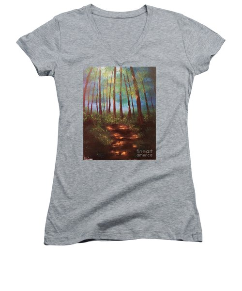 Forests Glow Women's V-Neck