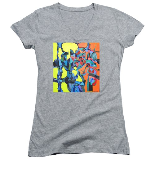 Forgotten Memories Of Broken Promises Women's V-Neck T-Shirt (Junior Cut) by Bernard Goodman