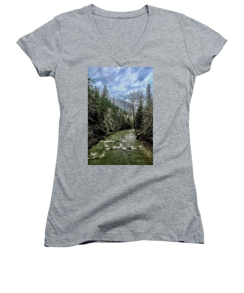 Forgotten Mountain Women's V-Neck (Athletic Fit)