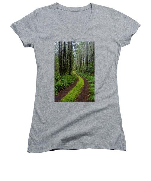 Forgotten Roads Women's V-Neck T-Shirt