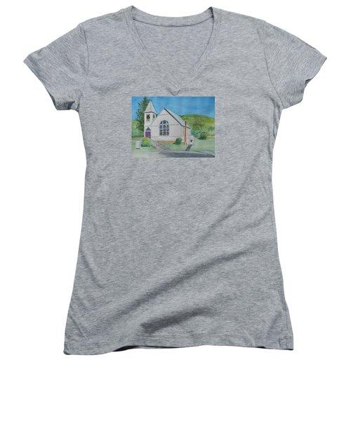 Former Rush Church Women's V-Neck T-Shirt