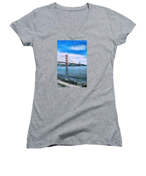Fort Point Women's V-Neck T-Shirt